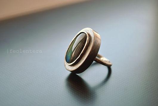 Кольца ручной работы. Ярмарка Мастеров - ручная работа. Купить Styx - серебряное кольцо с лабрадором (серебро 925). Handmade. Серебряный