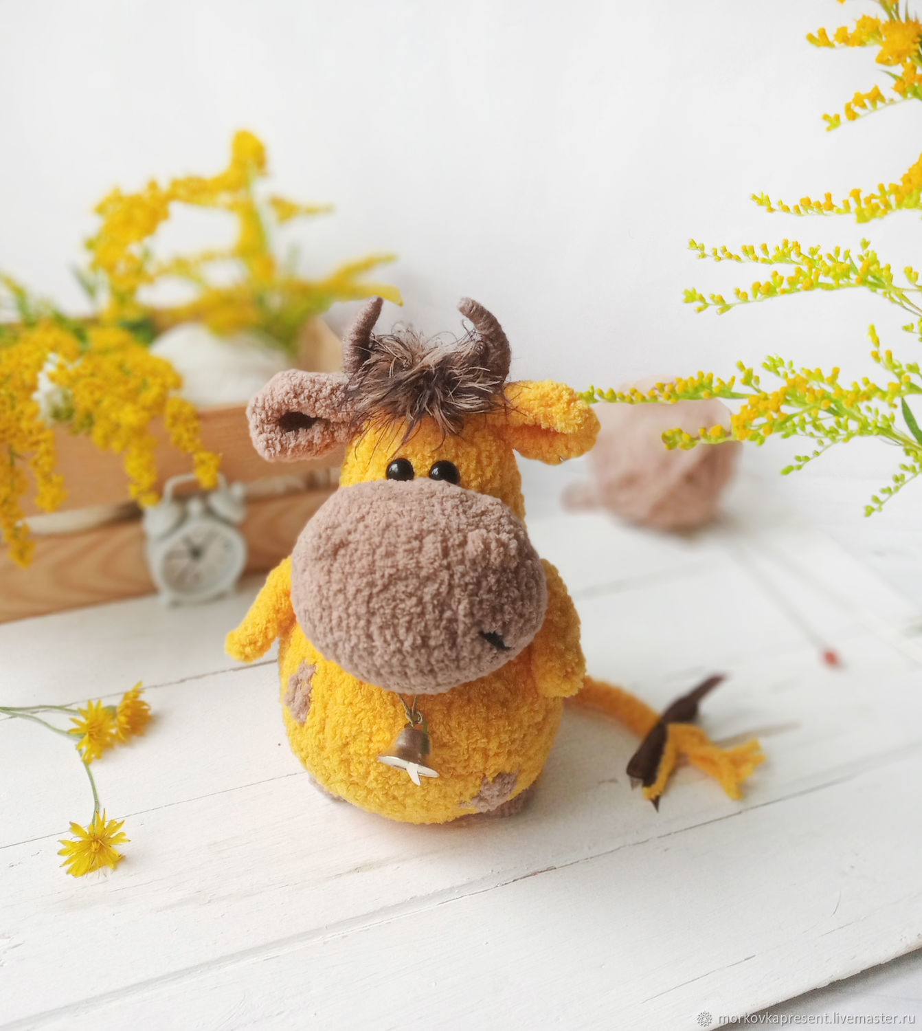 Bull Peter. knitted toy, Stuffed Toys, Chaikovsky,  Фото №1