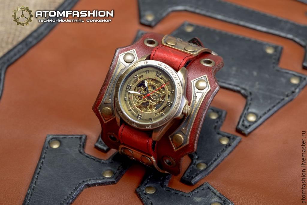 Купить Стимпанк часы наручные Эксклюзив