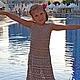 Одежда для девочек, ручной работы. Ярмарка Мастеров - ручная работа. Купить Платье Элегантная Лилия из хлопка для юной леди.. Handmade.
