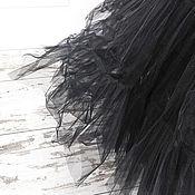 Одежда ручной работы. Ярмарка Мастеров - ручная работа Юбка из черного фатина многослойная. Handmade.