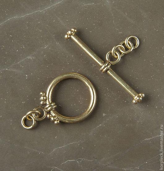 Для украшений ручной работы. Ярмарка Мастеров - ручная работа. Купить Замок тогл Медеви, серебро с позолотой антик. Handmade.