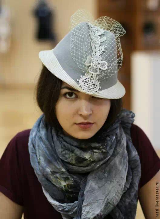 Шляпы ручной работы. Ярмарка Мастеров - ручная работа. Купить Трилби Романтика. Handmade. Серый, кружево, стильный аксессуар, вуаль