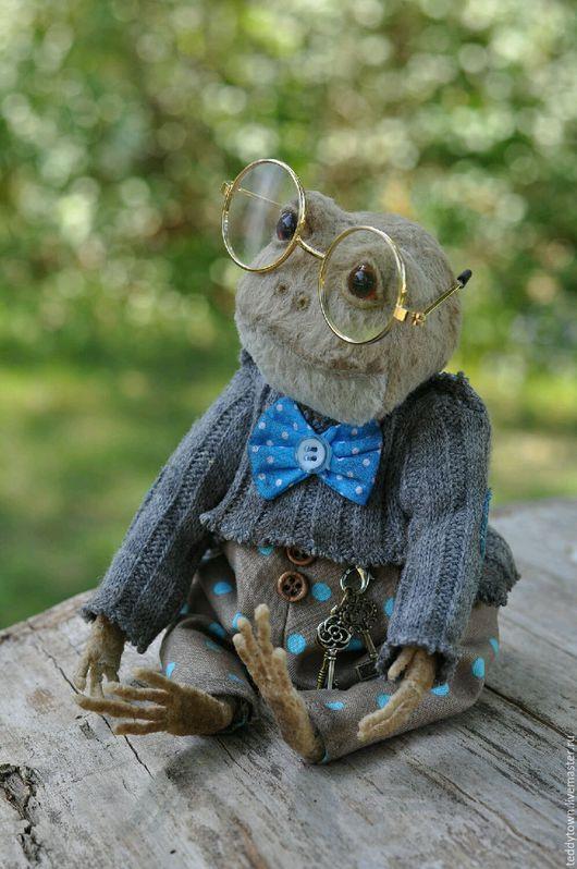 Мишки Тедди ручной работы. Ярмарка Мастеров - ручная работа. Купить Ленардо ...(25см) тедди жаба лягушка ооак. Handmade.