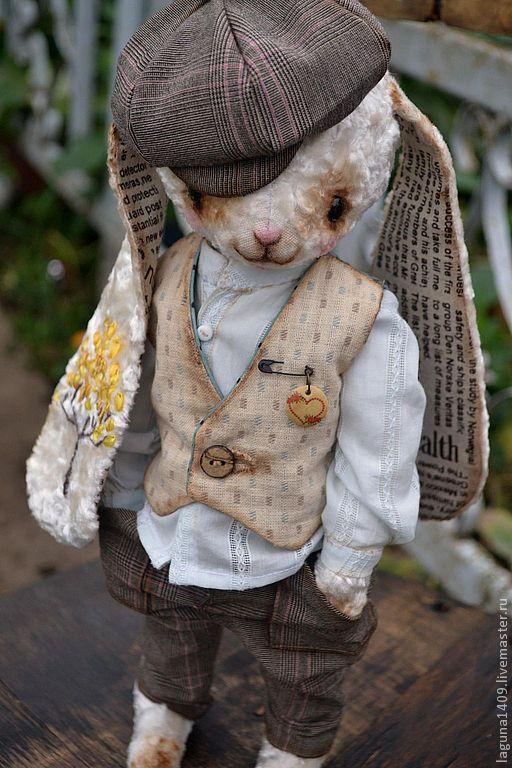 """Мишки Тедди ручной работы. Ярмарка Мастеров - ручная работа. Купить Заяц """"Есенин"""". Handmade. Заяц друзья тедди, заяц"""