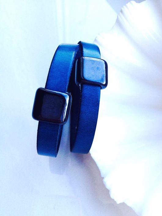 """Браслеты ручной работы. Ярмарка Мастеров - ручная работа. Купить Кожаный браслет """"Алексис"""". Handmade. Бирюзовый, браслет, подарок женщине"""