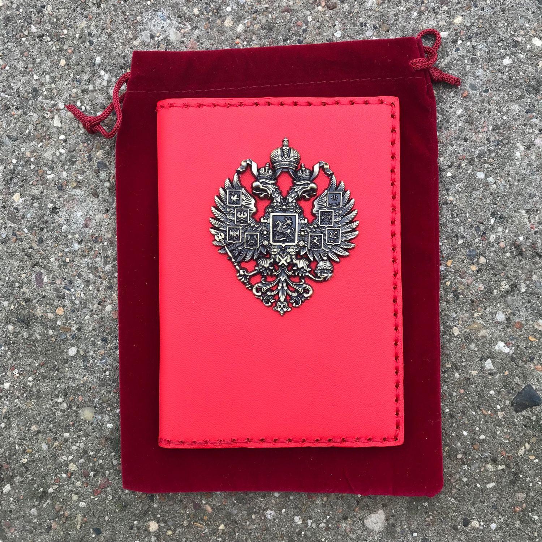 Обложка на паспорт «Имперский герб России», Спортивная сумка, Москва,  Фото №1