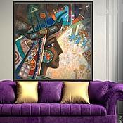 Картины и панно handmade. Livemaster - original item Bright Ethnic Pattern. Handmade.
