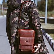 Сумки и аксессуары handmade. Livemaster - original item Leather men`s tablet bag Johnson. Handmade.
