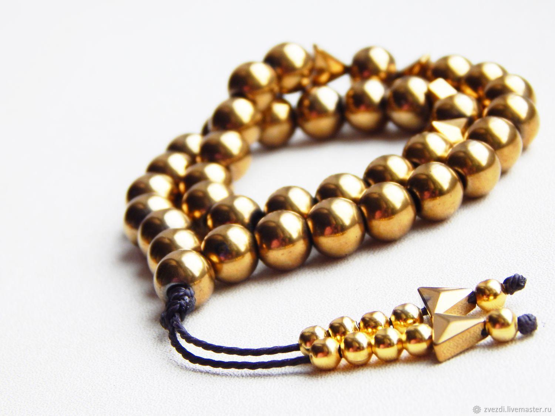 Rosary Hematite 'gold', Rosary, Minusinsk,  Фото №1