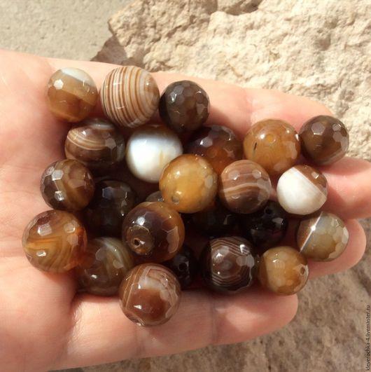 Для украшений ручной работы. Ярмарка Мастеров - ручная работа. Купить ..Агат шар 12,14 мм ботсвана огранка бусины камни для украшений. Handmade.