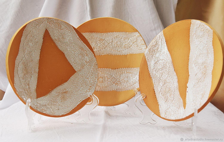 керамические десертные тарелки