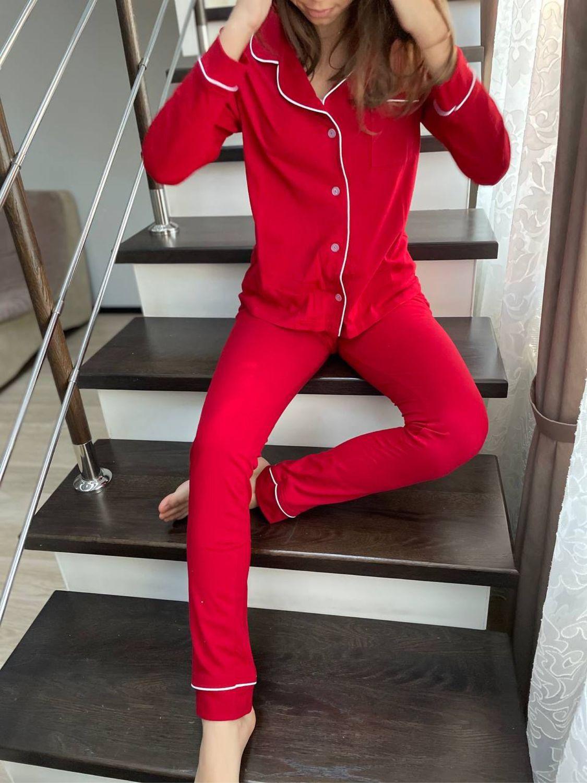 Пижама из хлопка «Огненно-красная», Пижамы, Иваново,  Фото №1