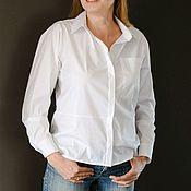 Блузка рубашечного кроя из хлопка (арт Б0217)