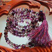 Фен-шуй и эзотерика handmade. Livemaster - original item Beads of fluorite at 108 grains.. Handmade.