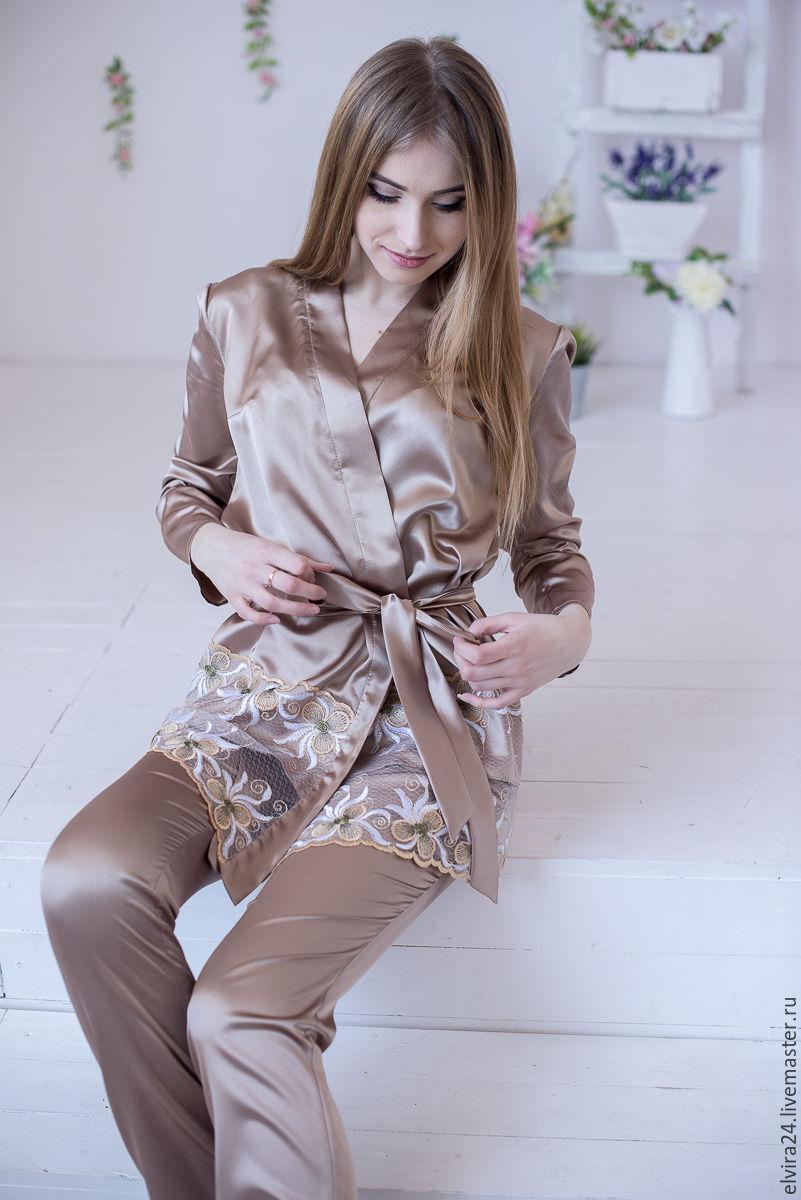 Suit, pajamas satin, suit pajama style 'Fantasy', Suits, Kaliningrad,  Фото №1