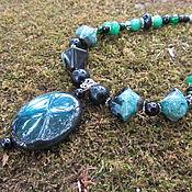 Украшения handmade. Livemaster - original item Decoration, necklace made of natural stones agate