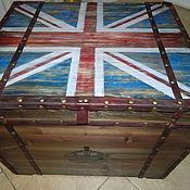 Для дома и интерьера ручной работы. Ярмарка Мастеров - ручная работа Тумба в стиле лофт (Union Jack) Большая. Handmade.
