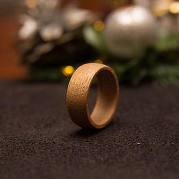 Украшения ручной работы. Ярмарка Мастеров - ручная работа Кольцо из дерева дуб. Handmade.