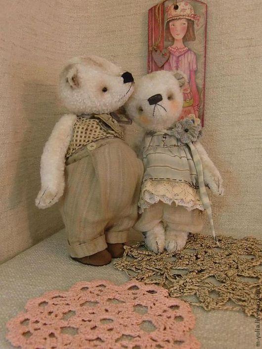 Мишки Тедди ручной работы. Ярмарка Мастеров - ручная работа. Купить Мишка тедди Томас .. Handmade. Белый, медвежонок, любимой