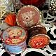 """Шкатулки ручной работы. Ярмарка Мастеров - ручная работа. Купить Набор мини бонбоньерок """"Медальоны с мишками"""" (декупаж). Handmade. Разноцветный"""