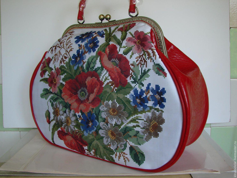 Пошитые сумки под вышивку бисером 91