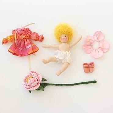 Куклы и игрушки ручной работы. Ярмарка Мастеров - ручная работа Розочка. Вальдорфская куколка маленькая игровая подвижная. Handmade.