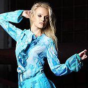 Одежда ручной работы. Ярмарка Мастеров - ручная работа Шелковая летняя юбка. Handmade.