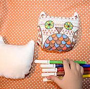 """Куклы и игрушки ручной работы. Ярмарка Мастеров - ручная работа Игрушка для раскрашивания """"Сова"""". Handmade."""