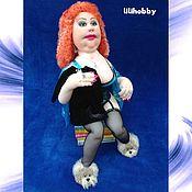 """Куклы и игрушки ручной работы. Ярмарка Мастеров - ручная работа Кукла интерьерная """"Сижу на диете!"""". Handmade."""