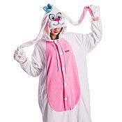 Costumes handmade. Livemaster - original item Costume fleece kigurumi Rabbit white. Handmade.