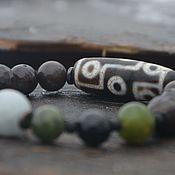 Украшения handmade. Livemaster - original item Bracelet wealth old Dzi 9 eyes agate, jade. Handmade.