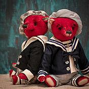 Куклы и игрушки ручной работы. Ярмарка Мастеров - ручная работа Красный мишка в матроске.. Handmade.