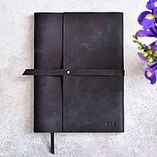 Канцелярские товары handmade. Livemaster - original item Leather A4 Notepad made of genuine leather Crazy Horse. Handmade.