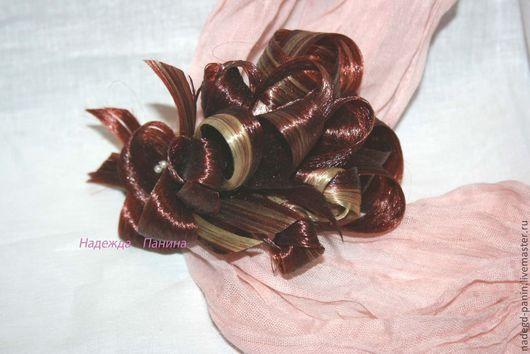 Заколки ручной работы. Ярмарка Мастеров - ручная работа. Купить Заколка из искусственных волос, постиж  №38. Handmade. Бордовый