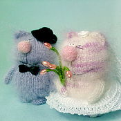 Куклы и игрушки ручной работы. Ярмарка Мастеров - ручная работа Молодожены!  Свадебные котики )). Handmade.