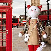 """Куклы и игрушки ручной работы. Ярмарка Мастеров - ручная работа Кошка """"Я уеду жить в Лондон"""". Handmade."""