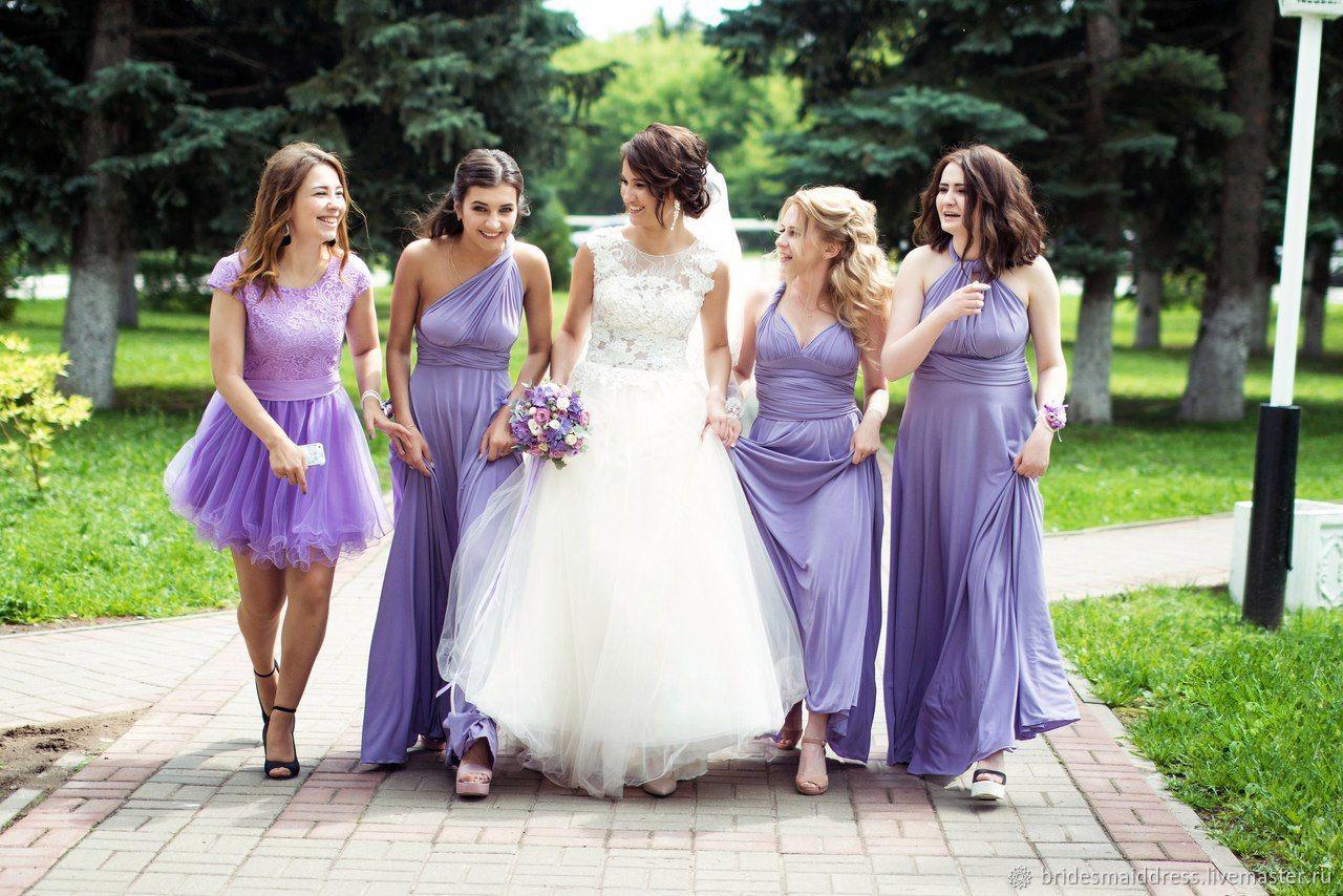 8bf466ad521 Платья ручной работы. Ярмарка Мастеров - ручная работа. Купить Сиреневые  платья для подружек невесты ...
