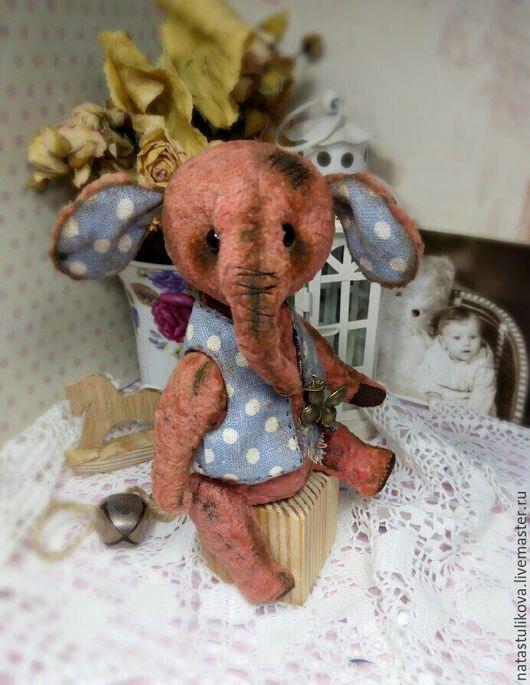 Куклы и игрушки ручной работы. Ярмарка Мастеров - ручная работа. Купить Выкройка слоника тедди с жилеточкой Сантик. Handmade.