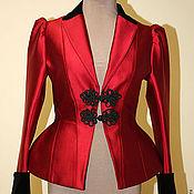 Одежда handmade. Livemaster - original item Satin jacket with