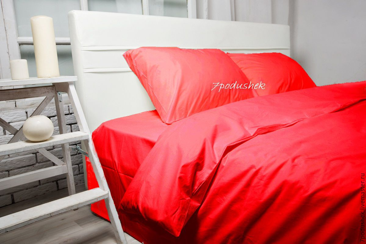 Red bedding. Red duvet cover set. Red bed sheet set, Bedding sets, Moscow,  Фото №1