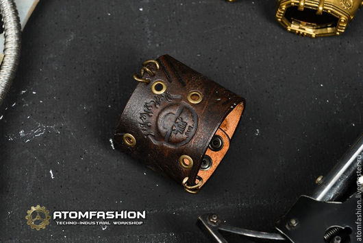 """Браслеты ручной работы. Ярмарка Мастеров - ручная работа. Купить Браслет кожаный """"Безумный Макс"""". Handmade. Браслет, кожаный браслет"""