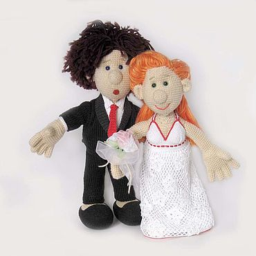 Свадебный салон ручной работы. Ярмарка Мастеров - ручная работа Подарки: Счастливые свадебные куклы Жених и Невеста для молодоженов. Handmade.