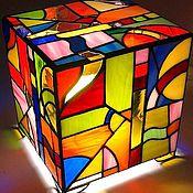 """Для дома и интерьера ручной работы. Ярмарка Мастеров - ручная работа Витражный светильник """"Цветные сны"""". Handmade."""