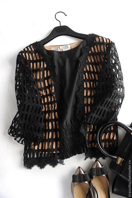 Блузки ручной работы. Ярмарка Мастеров - ручная работа. Купить Блуза с кружевом. Handmade. Черный, для девушки, блузка с кружевом