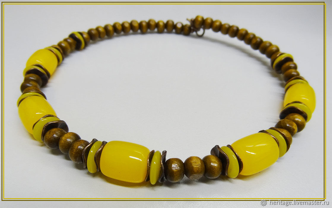 Necklace Lime honey, Necklace, Moscow,  Фото №1