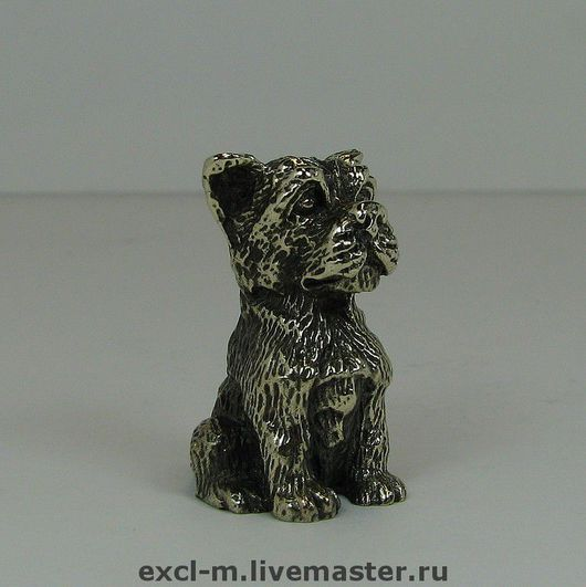 """Миниатюра ручной работы. Ярмарка Мастеров - ручная работа. Купить Статуэтка """"Пес"""". Handmade. Собака, статуэтка, пес, скульптурная миниатюра"""