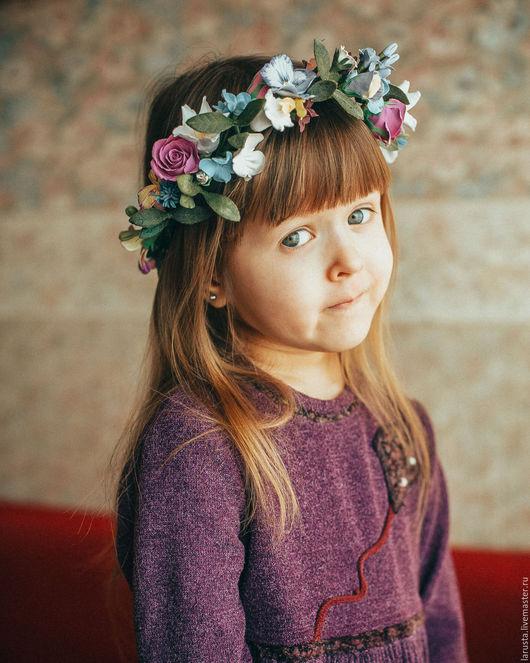 Детская бижутерия ручной работы. Ярмарка Мастеров - ручная работа. Купить Веночек на голову. Handmade. Розовый, веночек, веночек на голову