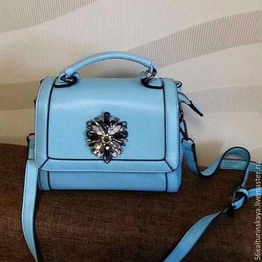 Женские сумки ручной работы. Ярмарка Мастеров - ручная работа. Купить сумочка Голубая. Handmade. Голубой, сумка