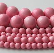 Материалы для творчества ручной работы. Ярмарка Мастеров - ручная работа Розовый жемчуг майорка ( аналог) 6, 8, 16 мм полунить 20 см. Handmade.